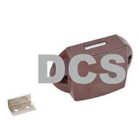 Pushlock kast- en/of toiletdeurslot bruin