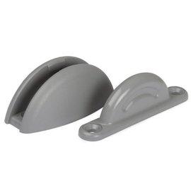 Deurvanger grijs met onderlegplaat 10mm