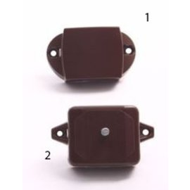 Pushlock kast- en/of toiletdeurslot spanjolet bruin