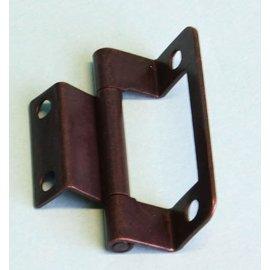 Scharnier dubbel geknikt brons 50 mm á 2st