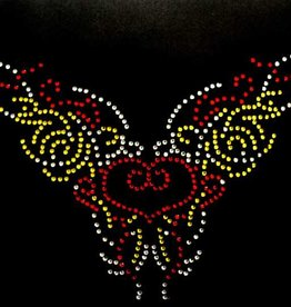 Niiniix Oeteldonk strass applicaties Oeteldonks collier rood, wit, geel 28cmx20cm