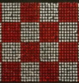 Niiniix Oeteldonk strass applicatie Brabantse vlag 11cmx8cm