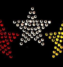 Niiniix Oeteldonk strass sterren dicht rood wit geel 3 stuks