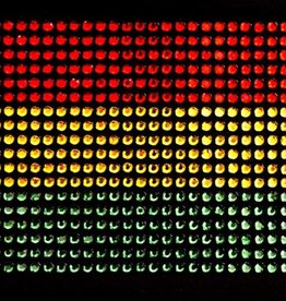 Niiniix Oeteldonk strass strijkembleem vlag M 9cmx6cm rood, geel, groen ss6