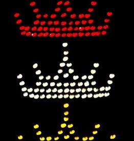 Niiniix Oeteldonk strass strijkembleem kroontjes 3x klein 8,5cmx5cm