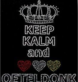Niiniix Oeteldonk strass keep kalm and love Oeteldonk 17cmx20cm