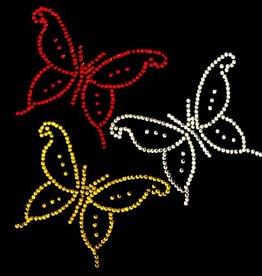 Niiniix Oeteldonk strass applicatie vlinders 3x oetelse kleuren