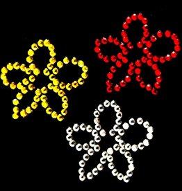 Niiniix Oeteldonk strass applicatie bloemetjes zonder steeltje oetelse kleuren