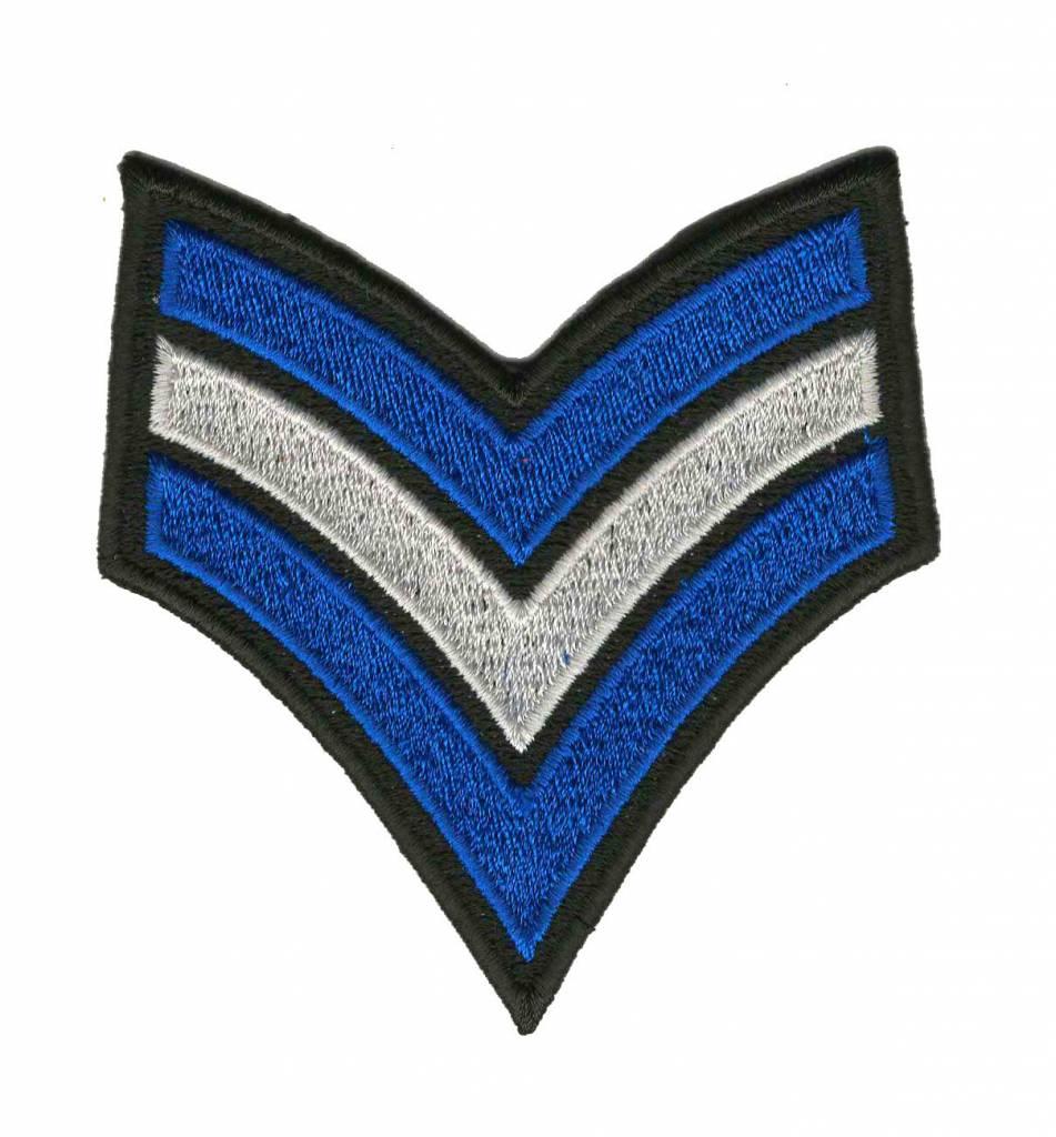 sergeantstreep blauw wit o.a. voor Canaval in Zandhazendurp