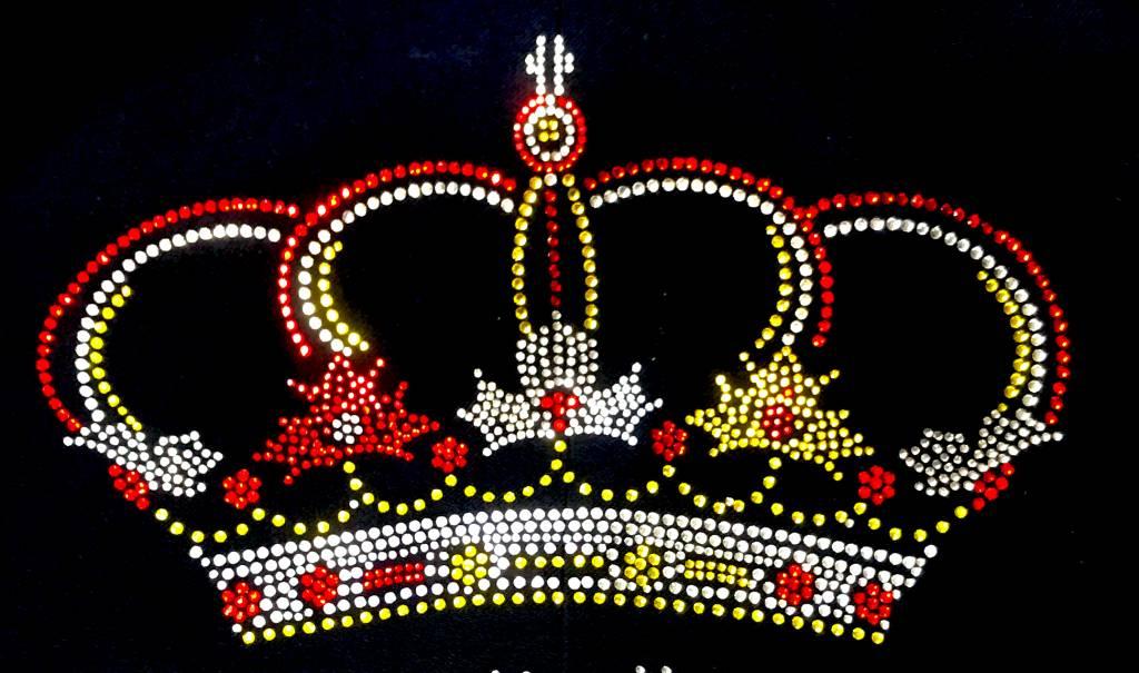 Niiniix Oeteldonk strass applicatie luxe kroon