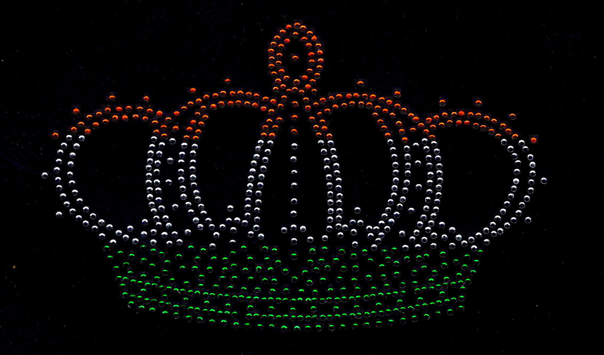 Niiniix Kroon strass embleem Carnaval in Kruikenstad