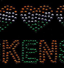 Niiniix Hartjes gestreept met tekst Kruikenstad strass embleem Carnaval in Kruikenstad