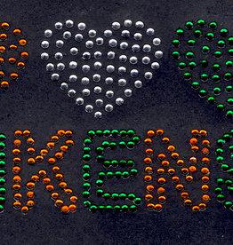 Niiniix Hartjes met tekst Kruikenstad strass embleem Carnaval in Kruikenstad
