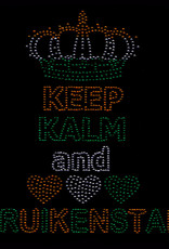 Niiniix Keep Kalm and love Kruikenstad strass embleem Carnaval in Kruikenstad