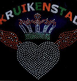 Niiniix Hart met vleugels en tekst Kruikenstad strass embleem Carnaval in Tilburg