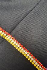 Niiniix Strass band van echt kristal rood wit geel