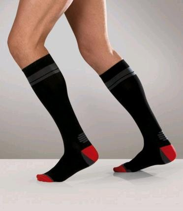 Sanyleg Active Sport Socks 15-21 mmHg, L, Black
