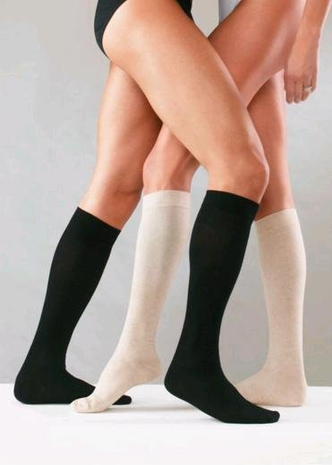 Sanyleg Preventive Cotton Socks 14-16 mmHg, XL, Black