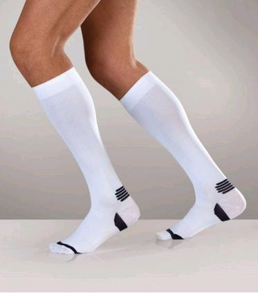 Sanyleg Active Sport Socks 15-21 mmHg, M, White