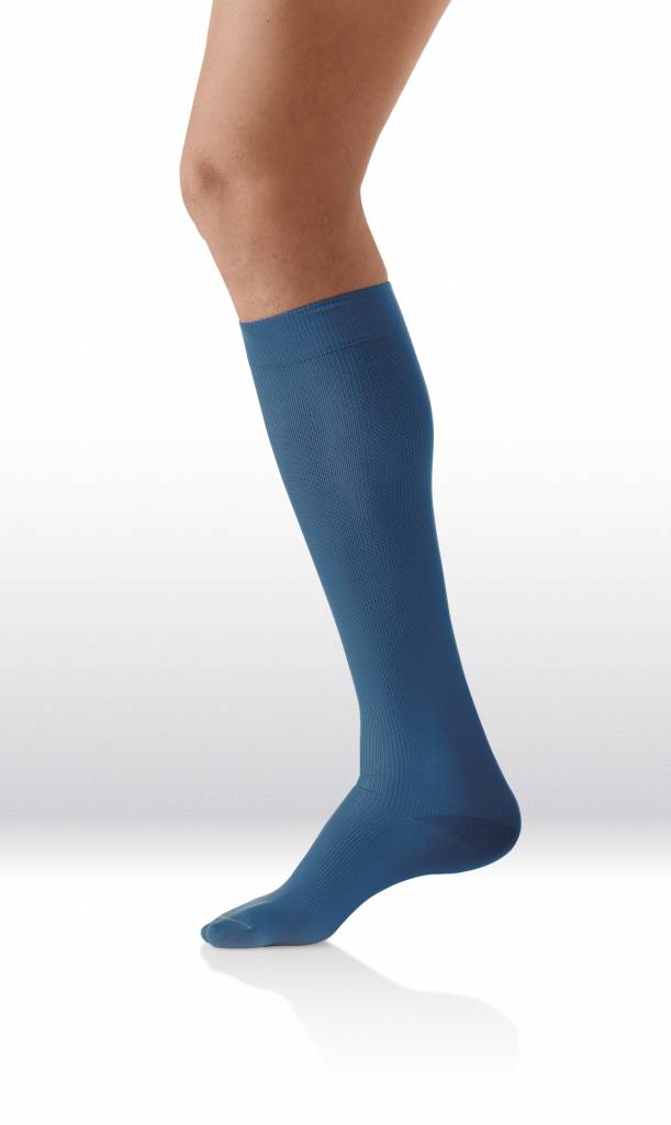 Sanyleg Comfort Socks Cotton/Silk 15-21 mmHg, L, Blauw
