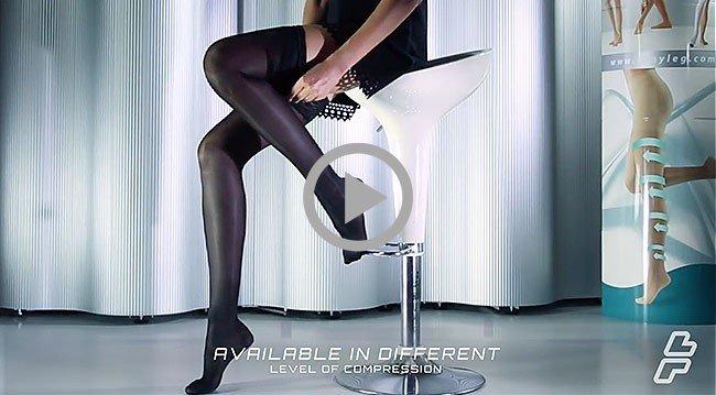 Sanyleg Preventive Sheer Knee High 25-27 mmHg, Beige S/M