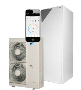 "Daikin Altherma "" All in One""vloermodel 16 kW 260 liter boiler"