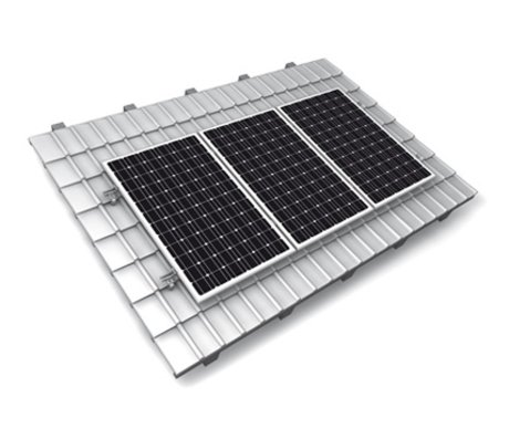 Set van 9 300 Wp Axitec BlackPremium incl. SMA SB 2,5 en K2 montagesysteem voor pannendaken opstelling 3x3