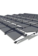 Set van 25 Duitse 320 Wp mono glas glas zonnepanelen van Sonnenstromfabrik,en Clickfit Evo  montagesysteem voor pannendaken opstelling 5x5