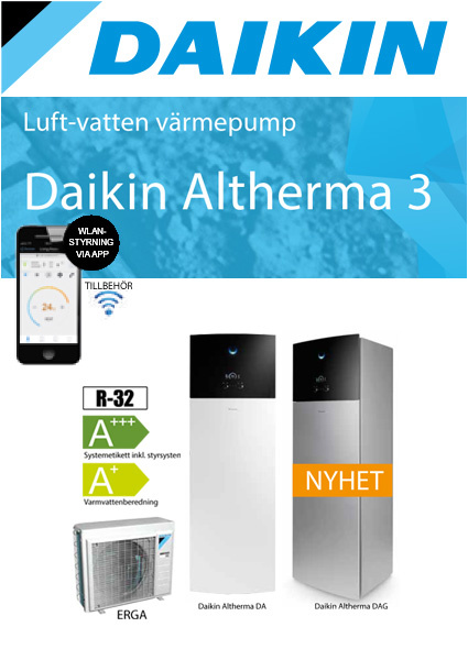 "Daikin Altherma "" All in One""vloermodel 4 kW 180 liter boiler"