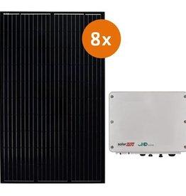 Pv-pakket 8 DMEGC 300 Wp full black  Solaredge SE2200H
