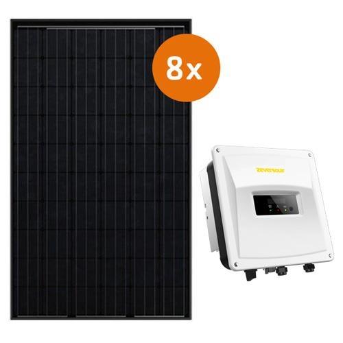 Actie-pakket 8 DMEGC 300 Wp full black  Zeverlution 2000S