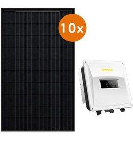 Actie-pakket 10 DMEGC 300 Wp full black  Zeverlution 3000S