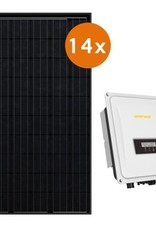 Actie-pakket 14 DMEGC 300 Wp full black  Zeverlution 3680S
