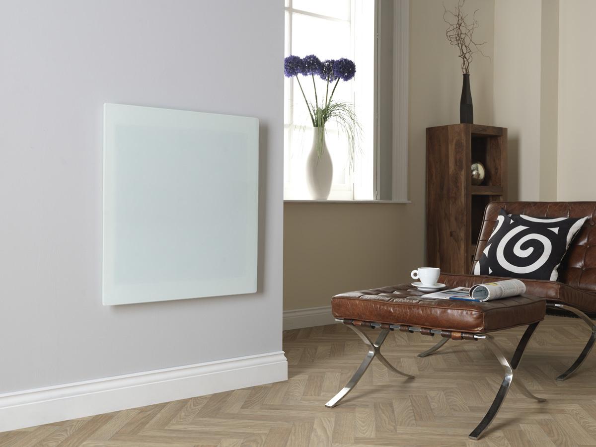 Masterwatt Glass infraroodpaneel l=454mm h=1355mm wit 500 Watt