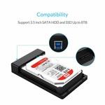 Orico Disque dur 3,5 pouces Boîtier / métal et en plastique / HDD / SSD / USB3.0 / Noir