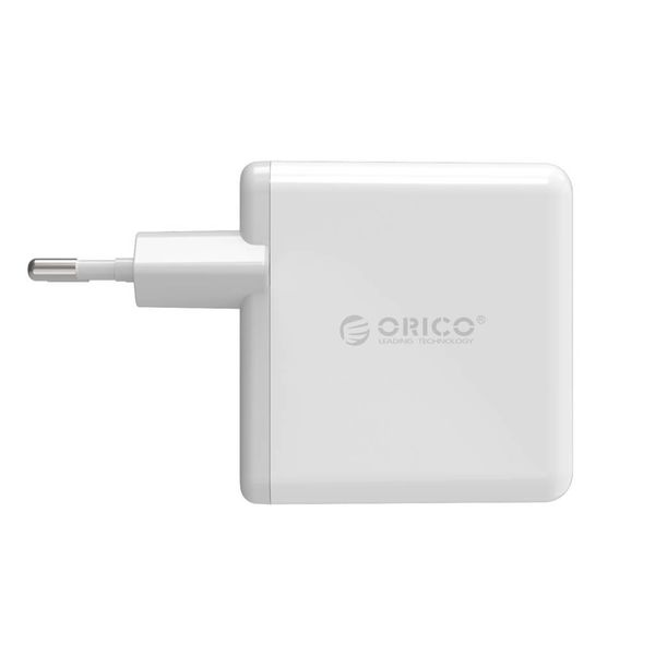 Orico Duo USB Turbo charger with Qualcomm Quick charge 2.0 - 2 port QC2.0 home charger 36W, 12v / 9v / 5v White