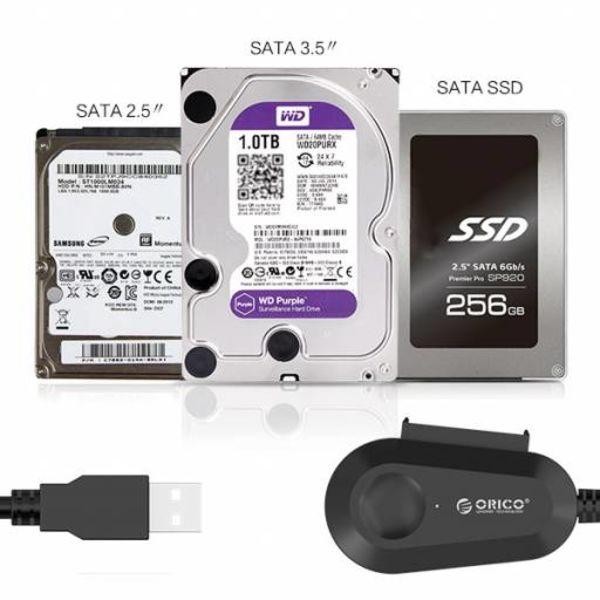 Orico USB 3.0 zu SATA HDD und SSD-Adapter-Kabel-Konverter 2,5 und 3,5-Zoll-SATA-Laufwerke 5 Gbps, SATA I, II und III