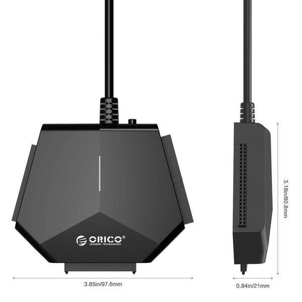 Orico USB 3.0 bis 2.5 und 3.5 Zoll SATA- und IDE-Festplattenadapter / -konverter - Schwarz