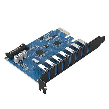 Orico 7 Poorts USB 3.0 PCI Express Kaart (5Gbps)
