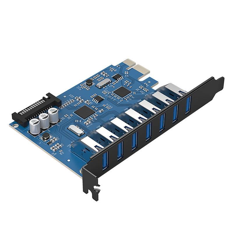 7 Port Usb 3 0 Pci Express Card 5gbps With 7x Usb Orico