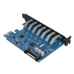Orico 7 Port USB 3.0 PCI Express Card (5Gbps) with 7x USB