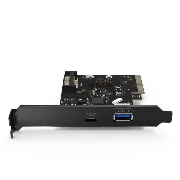 Orico 2 Ports USB 3.1 Gen 2 + Type-C PCIe Card (10Gbps) with 1x USB-A and 1x USB-C Type C