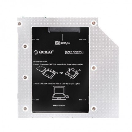Orico SATA HDD / SSD Caddy for Laptop and Notebook CD / DVD