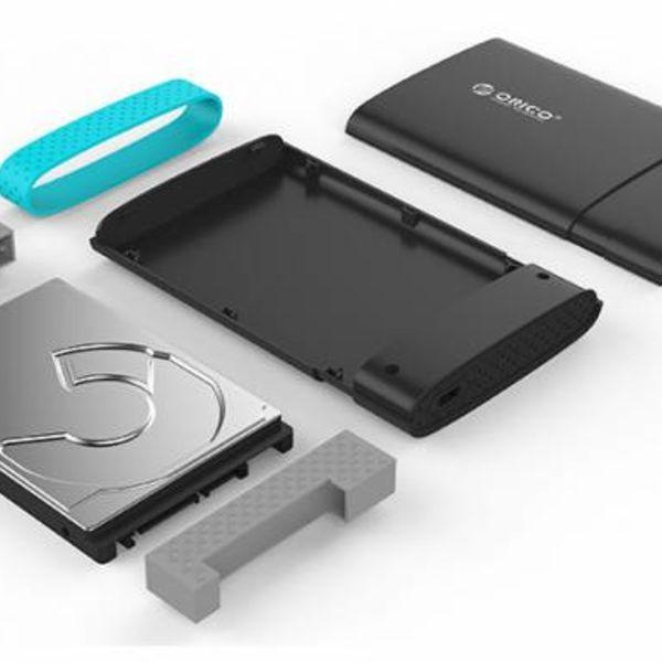 Orico Typ C Festplattengehäuse 2,5 Zoll USB 3.0 SATA HDD / SSD Portable Black