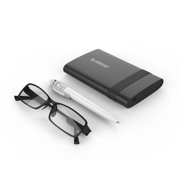 Orico Boîtier de disque dur de type C 2,5 pouces USB 3.0 SATA HDD / SSD portable noir