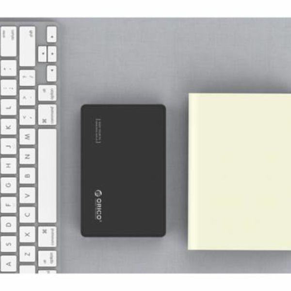 Orico 2,5-Zoll-USB 3.0 Typ-C-Festplattengehäuse SATA HDD / SSD UASP 10Gbps Tragbares Schwarz