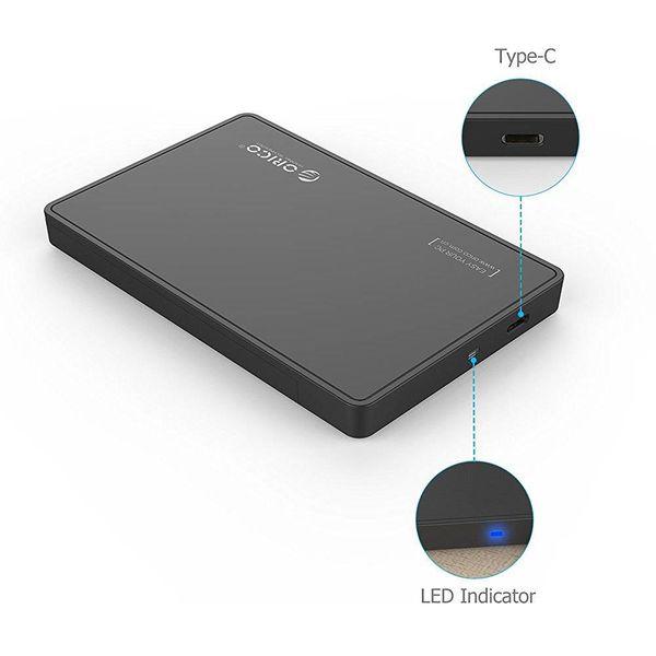 Orico 2.5 Inch USB 3.0 Type-C Harde Schijfbehuizing SATA HDD/SSD UASP 10Gbps Draagbaar Zwart
