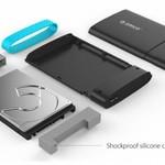Orico Boîtier pour disque dur 2,5 pouces / plastique / connecteur Grip / Micro-B / HDD / SSD / USB3.0 / Noir