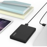 Orico Disque dur du boîtier 2.5 pouces / plastique / IC-chip / HDD / SSD / USB3.0 / Noir
