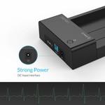 Orico USB 3.0-Festplatten-Dockingstation für 2,5- und 3,5-Zoll-SATA-Festplatten- und SSD-Laufwerke